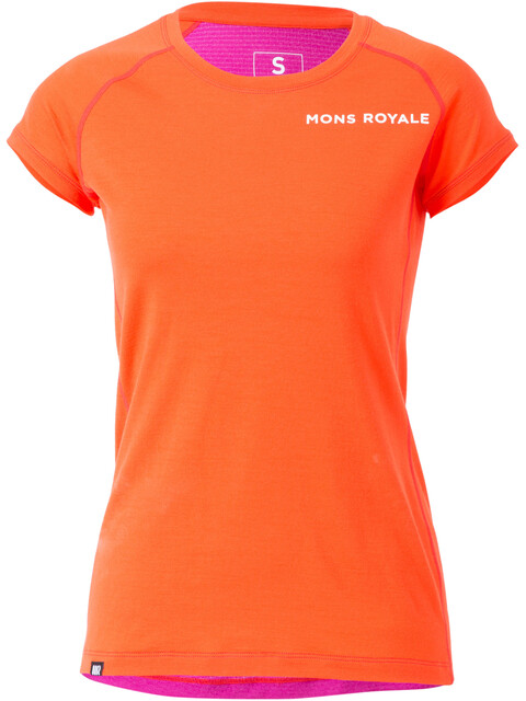 Mons Royale W's Tech Tee Spice/Fuchsia Mesh